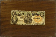 William Michael Harnett - Still Life. Five-Dollar Bill by William Michael Harnett