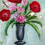 Painter Mixed Media - Still Life Flowers by Venus