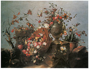 Francesco Painting Posters - Still Life Poster by Francesco Guardi
