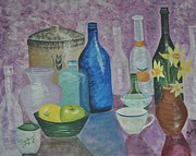 Dessert Wine Paintings - Still Life In Spring by Sally Rice