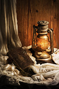 Night Lamp Pyrography Posters - Still Life Poster by Jelena Jovanovic