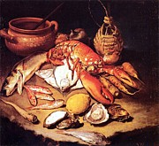 18th Century Paintings - Still Life - Marine life by Pg Reproductions