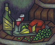Fine Bottle Pastels Prints - Still Life No 1 Print by Kamil Swiatek