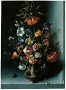 Still Life Of Flowers Art - Still Life of Flowers with a Fritillary by Jacob Woutersz Vosmaer