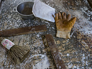 Spattered Prints - Still Life of Worker Tools in Cuba  Print by David Litschel