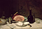 Decanter Posters - Still Life Poster by Philippe Rousseau