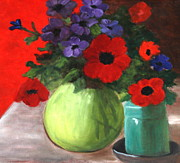 Sherrill McCall - Still life Poppies and...