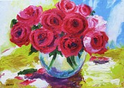 Interior Still Life Mixed Media Originals - Still Life Roses by Venus