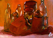 Jars Art - Still Life Study in Red by Greg Mason Burns