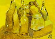 Still Life Study In Yellow Print by Greg Mason Burns