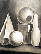 Pyramid Drawings - Still Life Study Of Forms by Irina Sztukowski