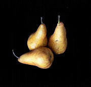 Still Life Photographs Posters - Still Life - Three Pears Poster by Greg Thiemeyer