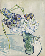 Carnations Paintings - Still Life Vase of Carnations by Vincent van Gogh