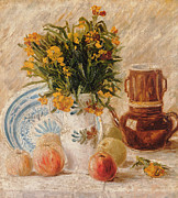 Vase Of Flowers Painting Prints - Still Life Print by Vincent van Gogh