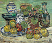 Famous Artists - Still Life with Apples by Maurice Brazil Prendergast