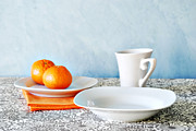 Coffee Mug Prints - Still Life With Blood Oranges Print by HD Connelly