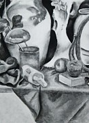 Ladles Prints - Still Life with Bones and Apples Print by Jessica Speedy