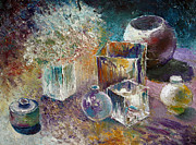 Custom  Studio Paintings - Still Life with bottles by Vladimir Volosov