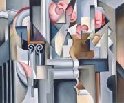 Still-life With Flowers Posters - Still Life with Brown Jug Poster by Catherine Abel