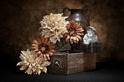 Floral Photos - Still Life with Cherub by Tom Mc Nemar