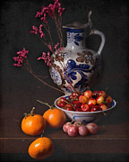 Wan-li Prints - Still Life with Fruit and Tankard  Print by Levin Rodriguez