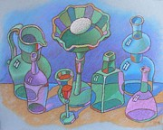 Egg Pastels Posters - Still life with glass ware Poster by Igor Kir