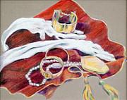Jewelry Drawings Originals - Still Life with Jewelry by Jinny Slyfield