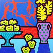 Metal Art Print Posters - Still Life With Matisse Poster by John  Nolan
