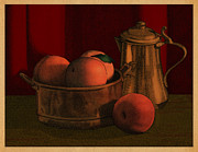Meg Shearer - Still Life with Peaches