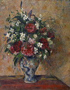Pissarro Prints - Still Life with Peonies and Mock Orange Print by Camille Pissarro