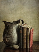 Story Books Prints - Still Life with Pitcher Print by Terry Rowe
