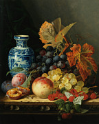 Art Of Wine Prints - Still Life With Rasberries Print by Edward Ladell