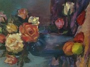 Peaches Originals - Still life with roses by Hilarie Couture