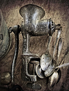 Old Grinders Posters - Still life with silverware Poster by Elena Nosyreva