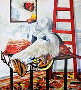 Still Life With The Artist Print by Nekoda  Singer