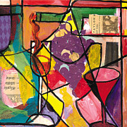 Jacob Lawrence Posters - Still Life with wine and Fruit B Poster by Everett Spruill