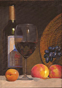 Peaches Originals - Still-life with wine by Tatyana Holodnova