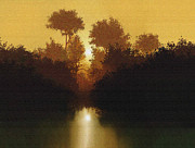 Fall Landscape Mixed Media Prints - Still Pond Print by Robert Foster