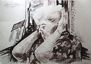 Watercolorist Painting Originals - Still Primping by Esther Newman-Cohen