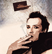 Pearl Jam Prints - Still Remains - Scott Weiland Print by Bobby Zeik