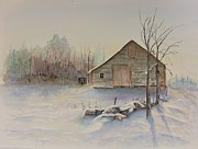 Michael Mcgrath Art - Still River Barn by Michael McGrath