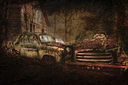 Junkyard Framed Prints - Still Standing Framed Print by Erik Brede
