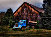 Rustic Barn Interior Art - Still Truckin by Susan Candelario