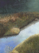Brook  Pastels Metal Prints - Still Water Metal Print by Ginny Neece