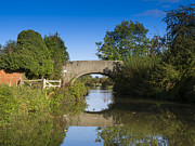 Arched Bridge Photos - Still Waters and Somerton Mill Bridge by Louise Heusinkveld