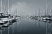 Yacht Photos - Still Waters Black And White by Heidi Smith