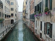 Buildings By The Sea Photo Prints - Still Waters in Venice Italy Print by Jan Moore
