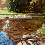 Swimming Hole Paintings - Still Waters by Kyle Buckland