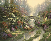 Bridge Painting Framed Prints - Stillwater Bridge Framed Print by Thomas Kinkade