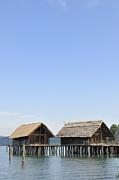 Stilt Houses At Lake Constance Germany Print by Matthias Hauser